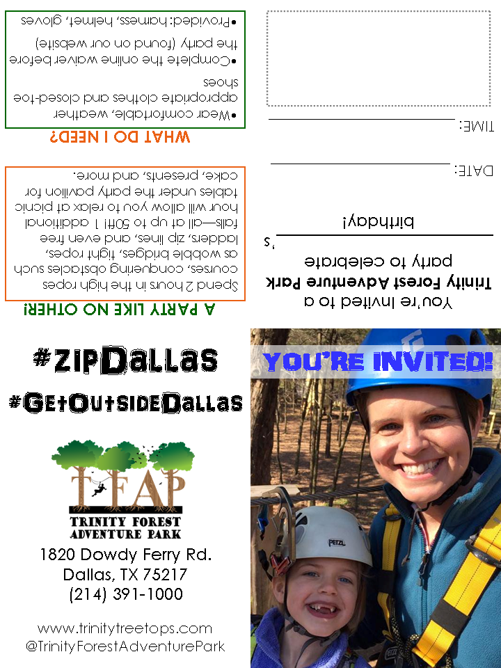 TFAP Birthday Party Invitations